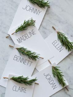 Originele naamkaartjes voor tijdens kerst