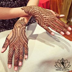 """Bridal #henna for the beautiful (and I must say unique!) Neha. She chose to go with this design by @maplemehndi. If you know me, you know I love…"""