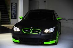 Tasty matte black and green BMW E60 M5 www.youlikecars.co.uk