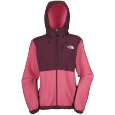 The North Face Denali Jacket - Polartec(R) Fleece, Hooded (For Women) ? PINK PEARL/SQUID RED