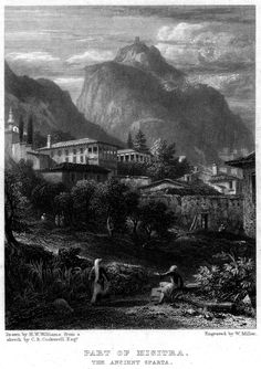 Hugh William Williams (1773-1829)-Part of Misitra,the Ancient Sparta_engraving by William Miller (1796–1882)