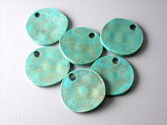 CHARM-AB-DISC-14MM  Patinaed Antiqued Bronze by pimssupplies