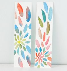 Original Watercolor Bookmarks with Bright by GrowCreativeShop, $8.00