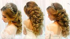 Свадебная прическа на длинные волосы.Греческая коса. Wedding hairstyle for long hair - YouTube