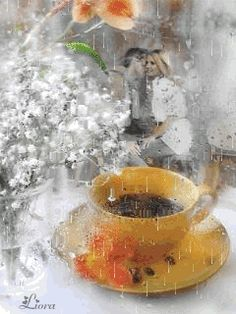 GIF by Mani Ivanov. Coffee Gif, Coffee Images, I Love Coffee, My Coffee, Good Night Love Images, Good Morning Images, Good Morning Coffee, Good Morning Good Night, Greetings For The Day