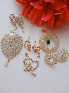 Heart Shaped Ear ring Set for her  For More visit Link OR MESSGAE ME  ...#bridal #wedding #Lehenga #Choli #Fancy #trending  #Necklace #Tops #Saree #Suits #Wedding_Wear  #Party_wear #Anarkali #Indian #Suits #Gown #Banarasi #Silk #Jewelry #Gold #Embroidery Lehenga Choli, Anarkali, Saree, Indian Suits, Indian Dresses, Wedding Wear, Wedding Dresses, Gold Embroidery, Wedding Season