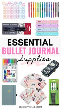 The Essential Supplies You Need To Start A Bullet Journal Looking to start your very own bullet journal? This post covers the essential bullet journal supplies and tools every beginner needs in their starter kit. Bullet Journal Design, Bullet Journal For Beginners, Bullet Journal Notebook, Bullet Journal Spread, Bullet Journal Ideas Pages, Bullet Journal Inspiration, Bullet Journal Materials, Bullet Journal Tools, Bullet Journal Starter Kit