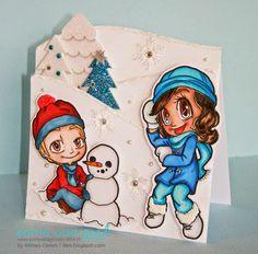 MelissaO - Needful Things using Some Odd Girl digi stamps. #christmas #digitalstamps #snowycard www.someoddgirl.com