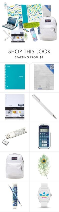 """School Supplies Series: #2"" by summerloveforever335 ❤ liked on Polyvore featuring interior, interiors, interior design, home, home decor, interior decorating, Five Star, Swarovski, JanSport and Vera Bradley"