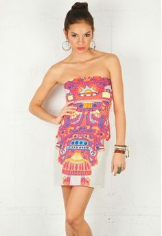 Neon goes tribal: I like it.  Yes, in fact, I would wear it.  (Though maybe not until the second date.)
