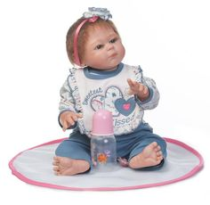 94.49$  Watch now - http://aliwc1.shopchina.info/go.php?t=32809247805 - Soft Full silicone body reborn babies Girl dolls Can Bath 22 Inch Lifelike Vinyl Newborn Bebe Alive Brinquedos Reborn Bonecas 94.49$ #buyonlinewebsite