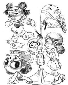 #jiahui gao# eva ko# illustrator#illustration#character design