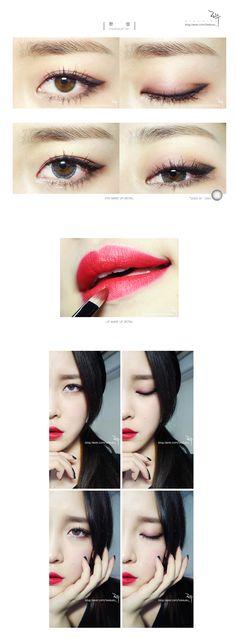 sunmi's full moon makeup tutorial, leesusu_
