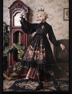 Susin -The Pilgrimage- Vintage Classic Lolita JSK,Lolita Dresses, Big Fashion, Womens Fashion, Fashion Trends, Ladies Fashion, Punk Fashion, Sheer Clothing, Rock Clothing, Gothic Lolita Fashion, Fantasy Dress