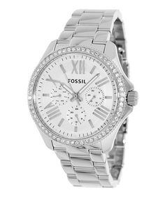 Take a look at this Silver Cecile Watch - Women by Fossil on #zulily today!