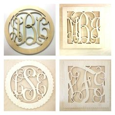 24+inch+BORDER+Vine+connected+monogram+letters+-+Unpainted