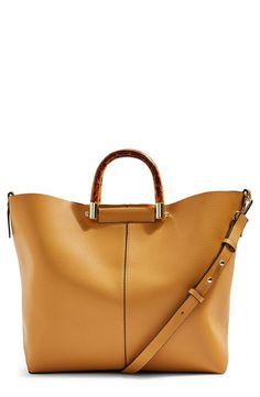 3f0d3e457264 topshop sallie tortoiseshell handle tote Topshop Bags