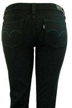 Levis Jeans Demi Curve Skinny Leg Juniors Galaxy Black Stretch Denim Pants