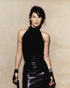 Lena Headey (as Toni Stark) Lena Headey, Charlotte Valandrey, Most Beautiful Women, Beautiful People, Capsule Wardrobe, Leila, Cersei Lannister, Daenerys Targaryen, All Black Everything