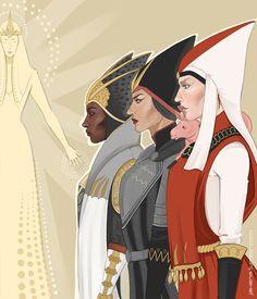 Vivienne, Cassandra and Leliana as Divine Victoria. Dragon Age Inquisition