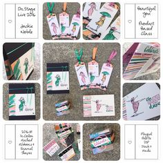 Jackie Noble created a beautiful set of projects using Beautiful You, for the Onstage presentations in Australia
