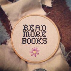 Cross stitch Read More Books
