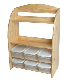 Natural Bookcase Organizer Set