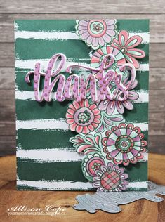 """Thanks"" card by Allison Cope featuring the Zen Garden release by Catherine Pooler Designs."