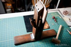 A stitching pony. Great help when making leather sheaths.