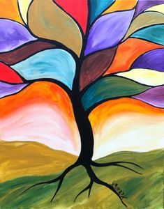 15 ideas for tree painting acrylic art lessons Art Lessons, Easy Canvas Painting, Farm Paintings, Watercolor Paintings, Painting Inspiration, Painting, Art, Simple Acrylic Paintings, Watercolor Paintings For Beginners