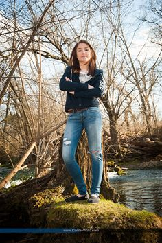 Outdoor Senior Photo by the water. - Senior Photography Conte Photography (contephoto.com).