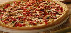 Gourmet chicken garlic pizza from papa murpheys take and bake. Its so good!!!