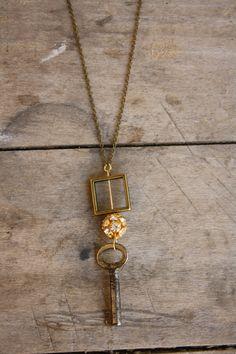 Window Skeleton Key Necklace