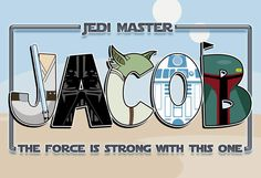 Personalized Star Wars Poster- Digital File. $18.00, via Etsy.