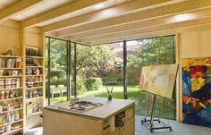 Corner window/doors:  Zecc Architecten Utrecht: Tuinatelier Utrecht