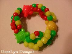 Rasta Turtle Kandi Bracelet by DustLynDesigns on Etsy, $10.00