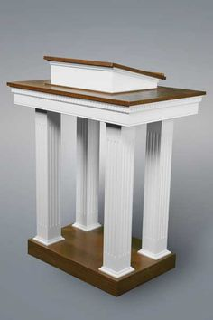 No 8401 Two tone pulpit with squared columns