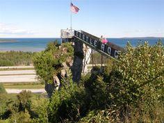 Castle Rock St Ignace MI State Of Michigan, Northern Michigan, Lake Michigan, Charlevoix Michigan, Water For Health, Castle Rock, Traverse City, Great Lakes, Winter Scenes