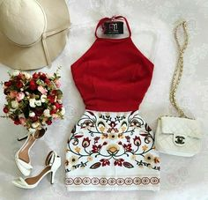 HouzDeco – Interior Design and Home Decor Ideas Skirt Outfits, Chic Outfits, Pretty Outfits, Summer Outfits, Fashion Outfits, Dress Skirt, Fashion Shoes, Fashion Mode, Look Fashion