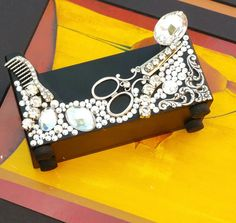All about that bling hairstylist business card holder rhinestone reserve listing for suzieall about that bling hairstylist business card holder rhinestone scissors colourmoves Image collections