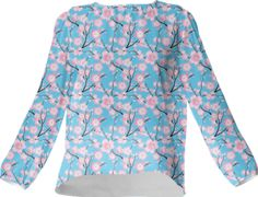 Cherry Blossoms Silk Top - Available Here: http://printallover.me/collections/sondersky/products/0000000p-cherry-blossoms-21