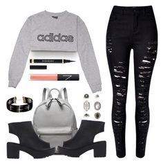 """""""Untitled #1581"""" by anarita11 ❤ liked on Polyvore featuring adidas, Yves Saint Laurent, NARS Cosmetics, Forever 21 and Topshop"""