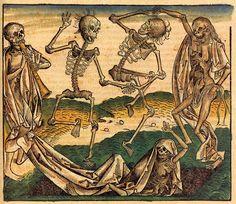 Funeral Artwork- La Danse Macabre Hans Holbein