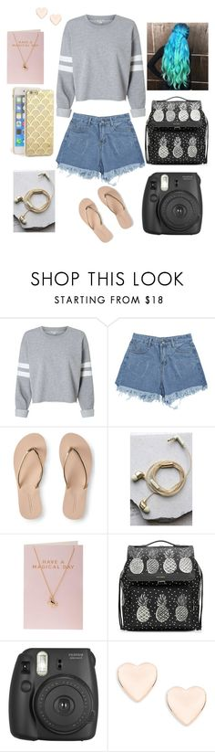 """mermaid at heart💙💦"" by skylar0629 ❤ liked on Polyvore featuring Aéropostale, Happy Plugs, Orelia, Dolce&Gabbana, Fujifilm and Ted Baker"