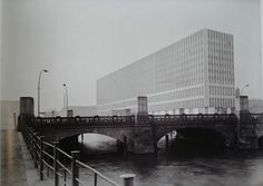 View from the Altes Museum to the monster Ministry of Foreign Affairs of the GDR.. built 1964-67.. demolished in 1996.. c1968