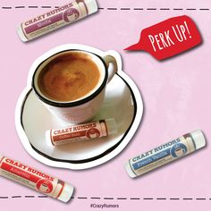 Perk up with fun #Coffee flavored lip balms, in Mocha, Amaretto, French Vanilla and Coffee Bean.