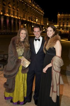 (L-R) Princess Marie-Astrid of Liechtenstein, cousin Félix of Luxemburg and Princess Maria Anunciata of Liechtenstein