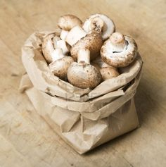 Keep mushrooms in a paper bag, not a plastic bag. | 27 Ways To Make Your Groceries Last As Long As Possible