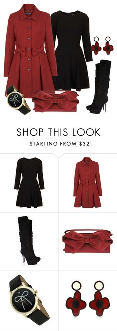 """""""Bows in winter"""" by dgia ❤ liked on Polyvore featuring Topshop, Miss Selfridge, Sergio Rossi, Valentino and Marni Edition"""