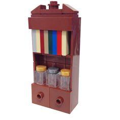 "MinifigurePacks: Lego® ""Furniture"" Minifigure Accessory Bundle (1) Bookcase (1) Sleeve of Books (3) Apothecary Jars"